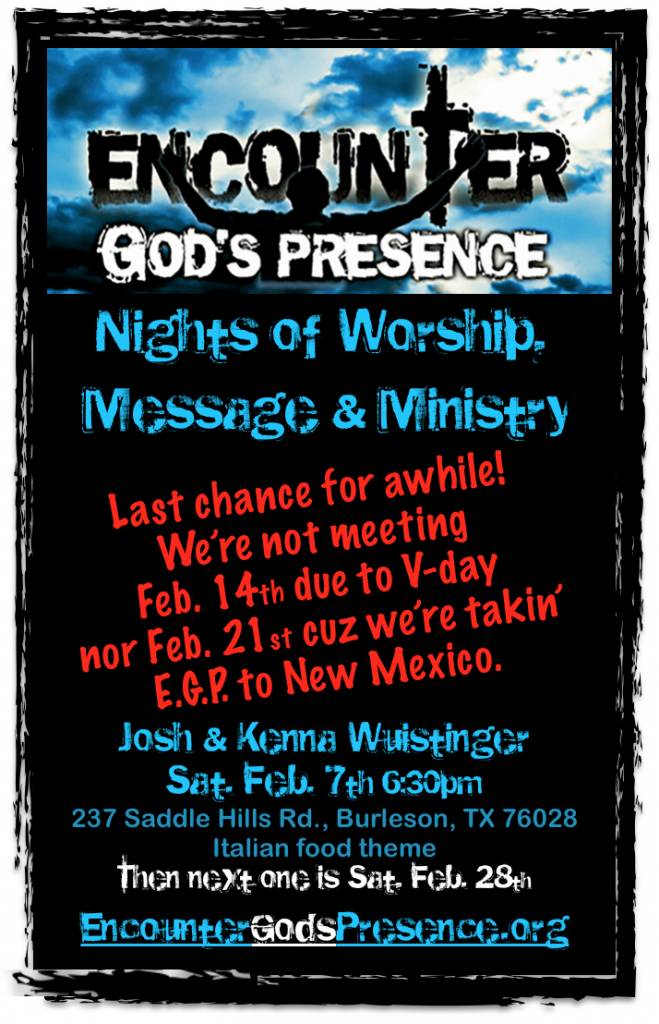 Encounter night for February 7th