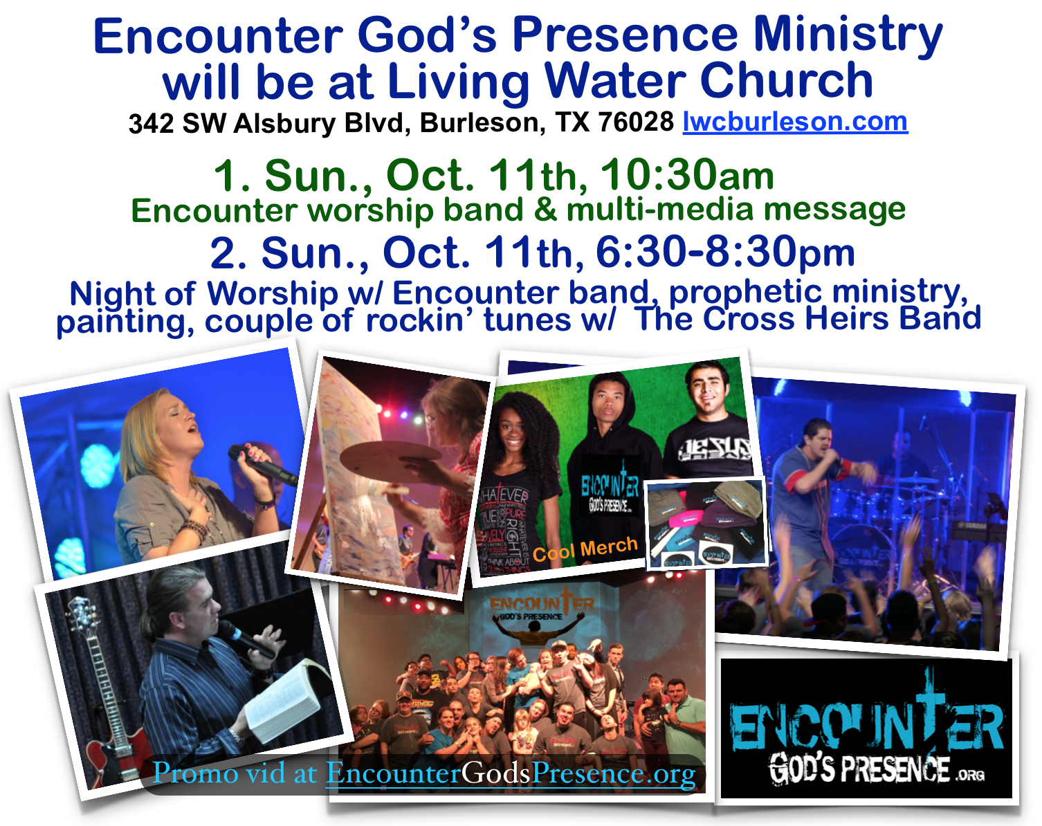 Encounter - Living Water wknd Oct. 11th Promo