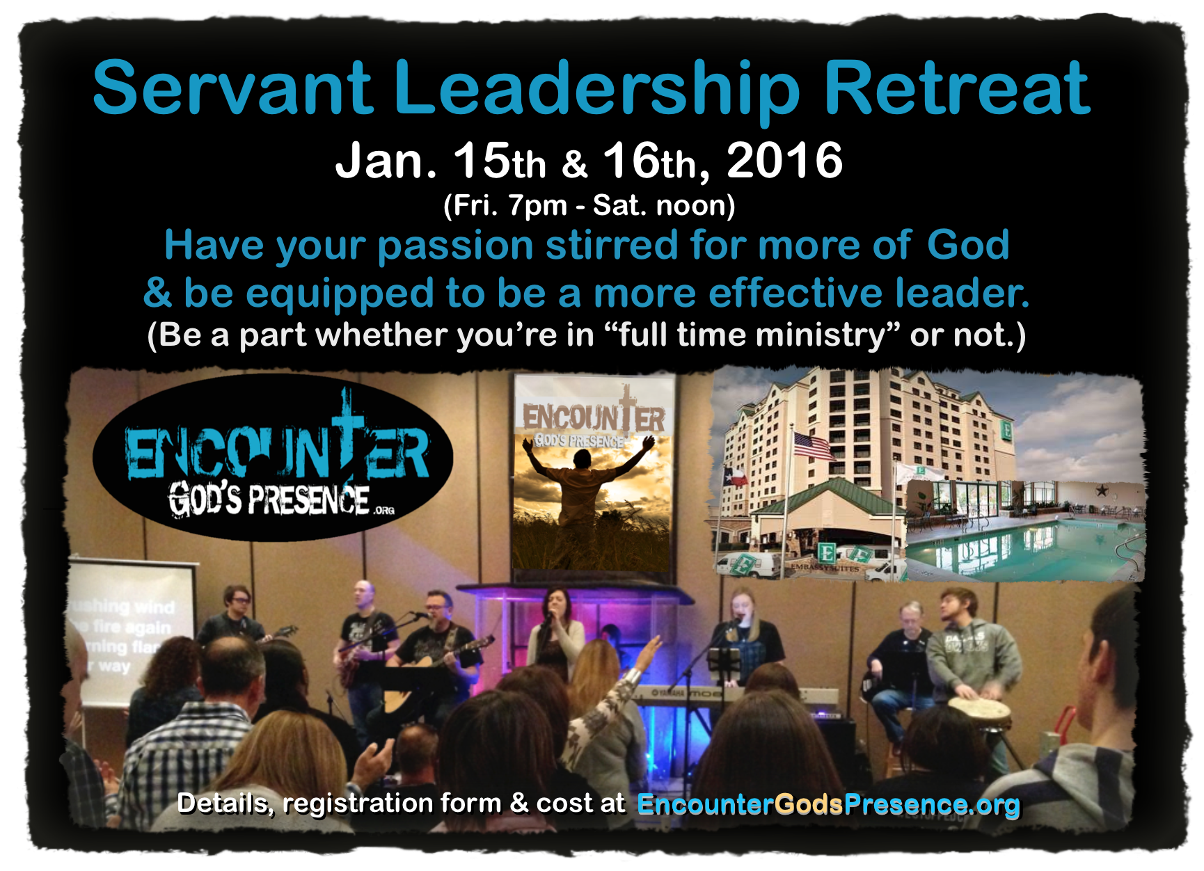 Encounter Servant Leadership Retreat SOCIAL MEDIA flyer
